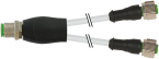 M12 Y-distributor / M12 female 0°