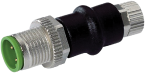 ADAPTOR M12 MALE/ M8 FEMALE 4 POLE CONF. 1,2,3,4
