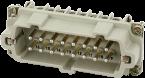 B16 male 16-pole, screw t., 500 V, 16 A