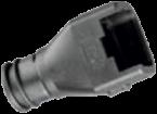 Backshell DT, 4-pin, 0°, 12 mm port