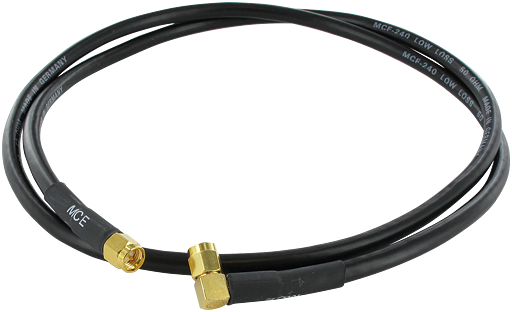 Antenna cable 0° to 90° - 10 m - SMA